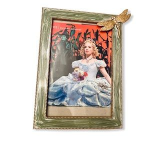 3D green Enamel Photo Picture frame Dragonfly 4x6